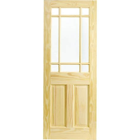 Wickes Exterior Door Wickes Truro Softwood Door Pine Glazed 1981x762mm Wickes Co Uk