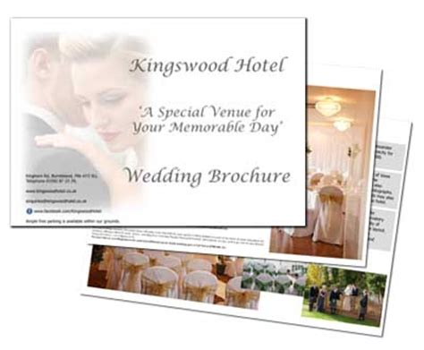 wedding brochure request wedding venue in fife the kingswood hotel nr burntisland