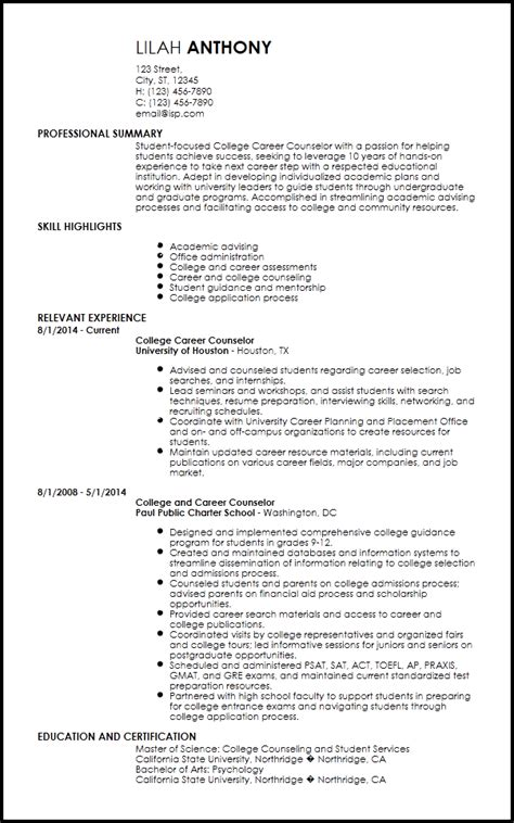 Financial Aid Counselor Resume by Cover Letter For Academic Advisor