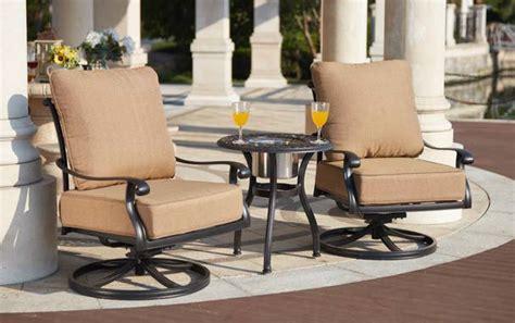 patio furniture cast aluminum  pc deep seating swivel