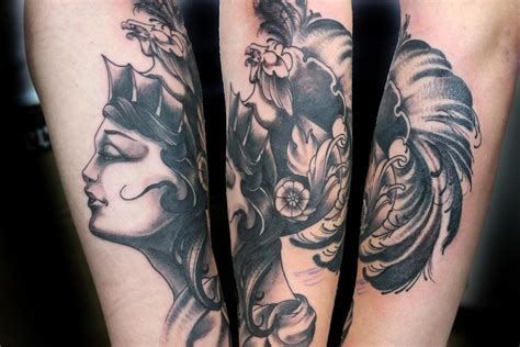 athena tattoo athena by jerrett querubin tattoonow