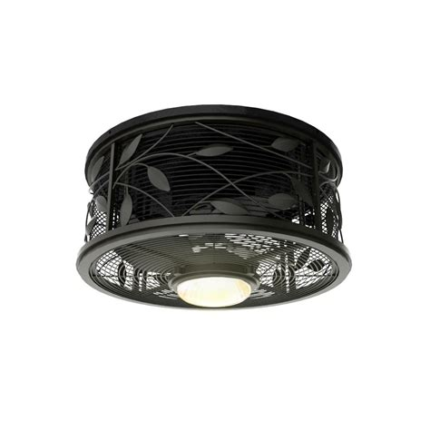 black flush mount ceiling fan flush mount cage light cage light industrial flush mount