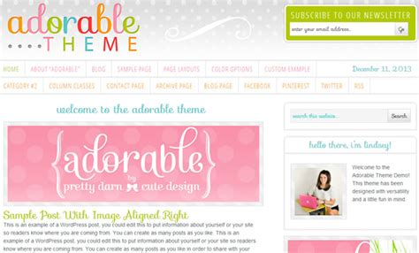 girly wordpress themes 25 premium responsive feminine wp themes