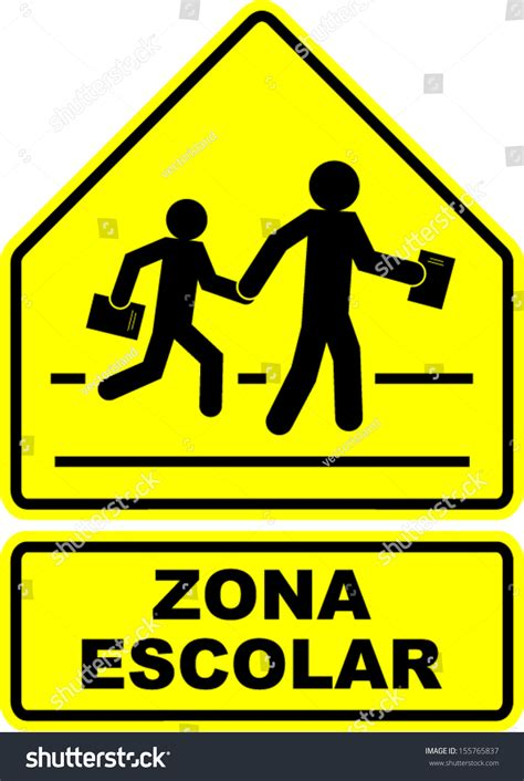 imagenes zona escolar zona escolar school zone sign stock vector 155765837