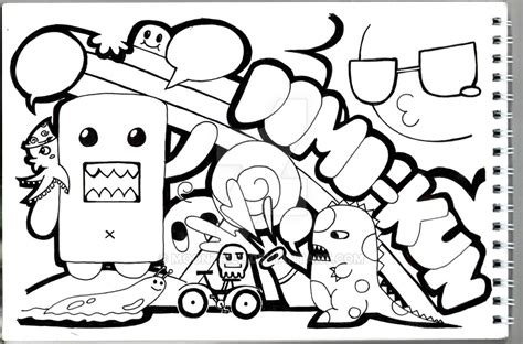 domo doodle drawing domo kun by moontrill on deviantart
