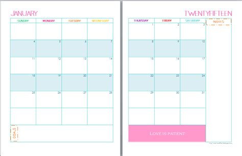 printable weekly monthly planner 2015 8 5 x 11 calendars printable calendar template 2016