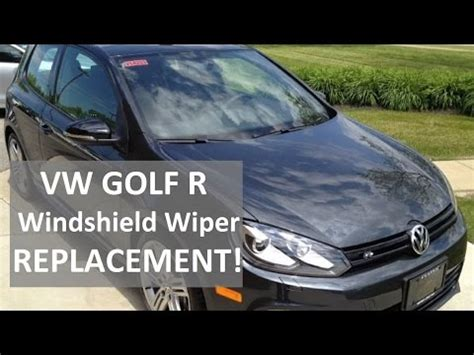 replace volkswagen windshield wipers jetta golf youtube