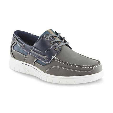 boat shoes kmart thom mcan men s klinton gray navy boat shoe shoes men