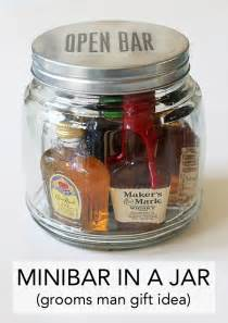 minibar in a jar an easy gift idea