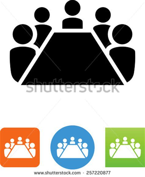 members of the table board room members sitting around table stock vector