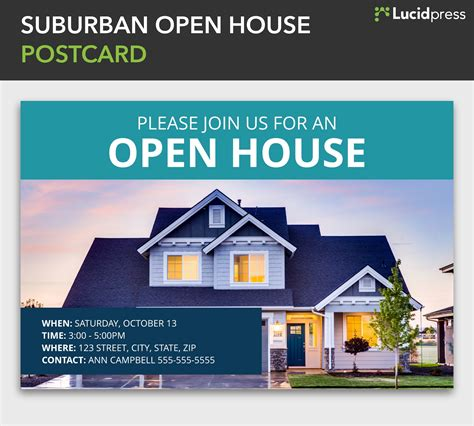 open house postcard template how to build a social media caign for real estate