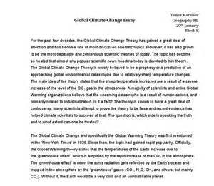 Global Warming Essays For Students by Essay On Global Warming From 2 Perspectives