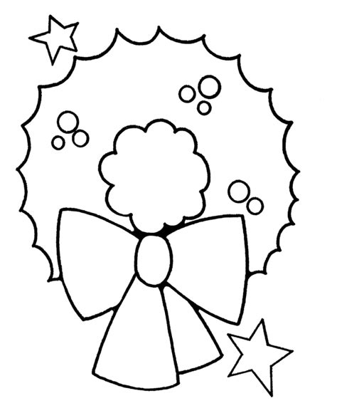 7 Easy Christmas Coloring Pages For Toddlers Easy Coloring Pages For ToddlerslL