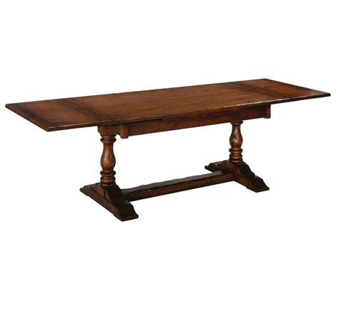 hawkhurst bulbous leg oak drawleaf dining table