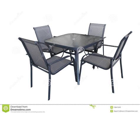 outdoor glass table and chairs stock photos image 13841943