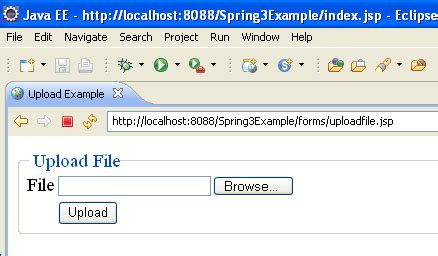 html tutorial upload file spring 3 mvc file upload spring mvc file upload