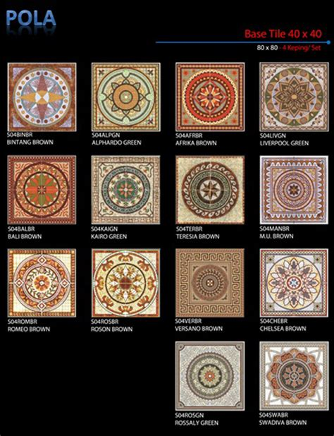 Keramik Teras 40x40 3 bahan bangunan proyek murah pola keramik lantai