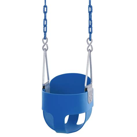 toddler bucket swing with chain swingan high back full bucket toddler and baby swing with