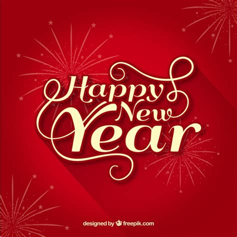 new year free happy new year background vector free