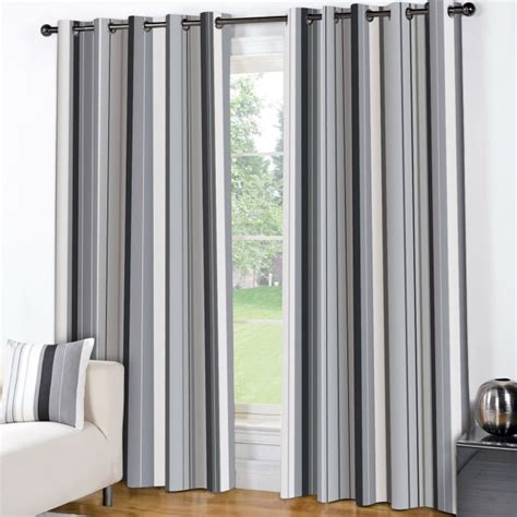 Gray Striped Curtains Curtain 10 Decoration White And Grey Curtain Panels Picture Charming White And Grey