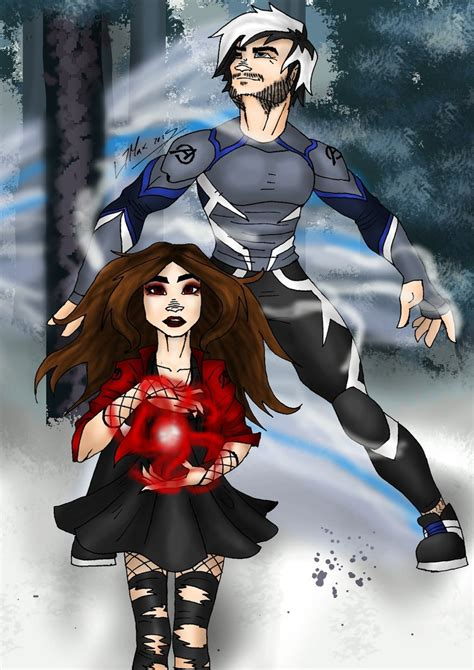 Poster The Age Of Ultron Scarlet Witch Ukuran A3 age of ultron scarlet witch and quicksilver by hlontro on deviantart