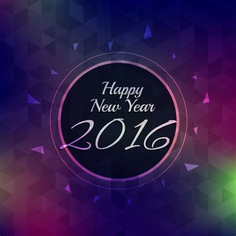 new year 2016 greeting card free 2016 new year greeting card vector free