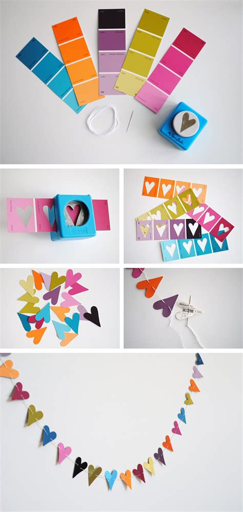 Paper Craft For Decoration - paper punch garland