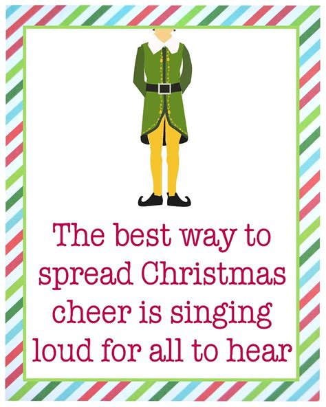 printable christmas quotes quotes from buddy the elf quotesgram