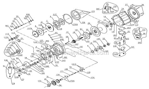 penn reel diagrams penn 130st parts list and diagram ereplacementparts