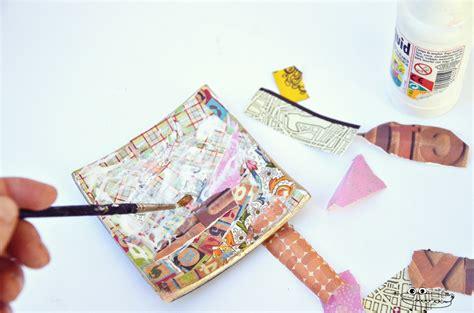 tutorial decoupage papel plato decorado con decoupage manualidades infantiles