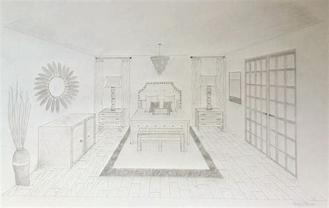 perspective drawing of bedroom two point perspective living room peenmedia com