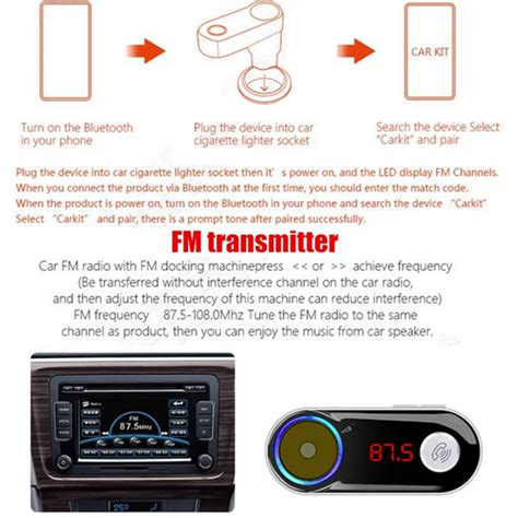 Modulator 022 Player car charger cigarette lighter fm transmitter usb mp3 player with bluetooth function