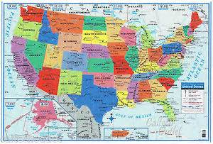 usa united states map poster size wall decoration large