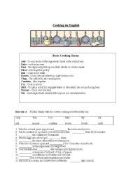 Cooking Measurements Worksheet Answers Basic Cooking Terms Worksheet Worksheets For School