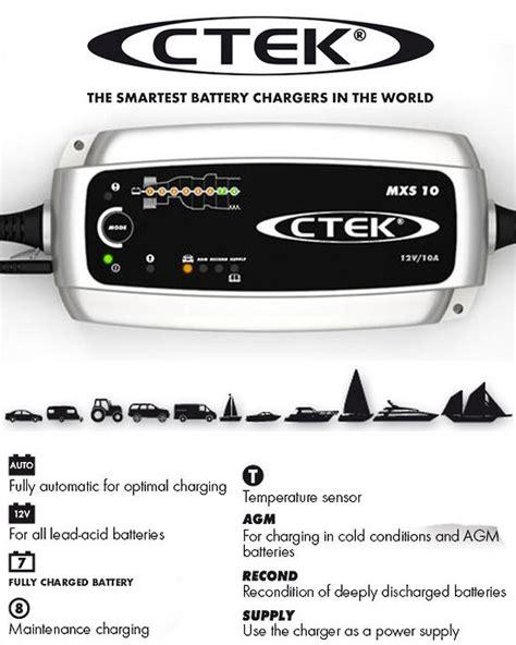 ctek smart charger ctek mxs 10 0 smart 12 volt battery charger electronic world