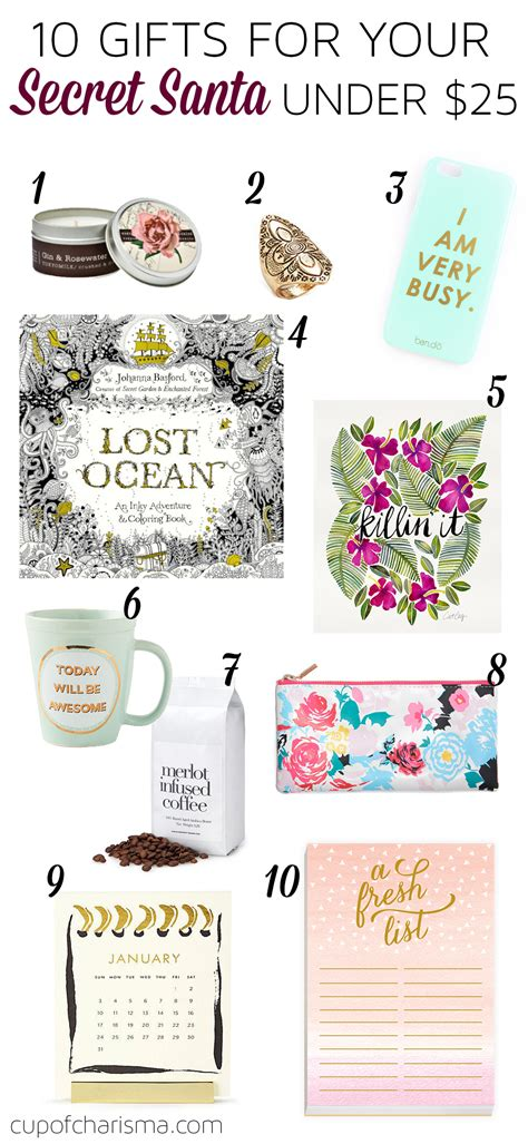 gifts for your secret cup of charisma 10 secret santa gifts 25 cup of