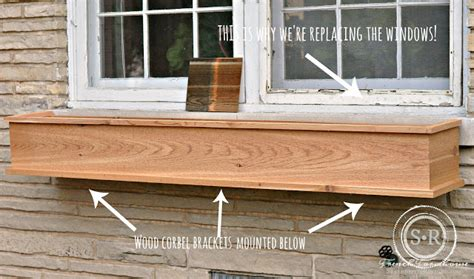 how to build a window box planter serendipity refined how to build a diy rustic cedar