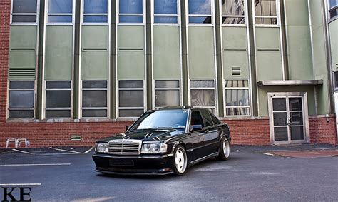 lowered mercedes 190e lowered mercedes 190 e looks classically clean