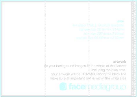 elegant tri fold brochure template microsoft word funeral free