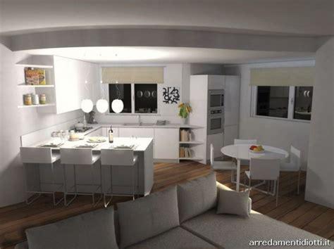 ambiente unico cucina salotto  forum disposizione