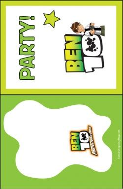 Ben 10 Invite 3 Ben 10 Invitations Free Printable Ideas From Family Shoppingbag Com Ben 10 Birthday Invitation Cards Templates
