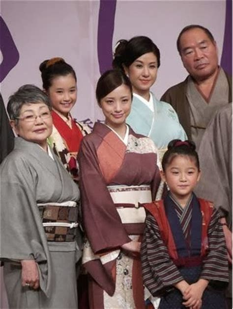 film drama oshin aya ueto appears at the completion press conference for