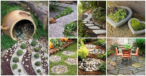 Garden Patio Decor Garden Decor With Stones That Will The Show