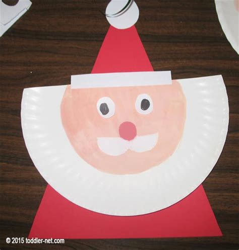 Santa Paper Plate Craft - paper plate santa claus craft for children