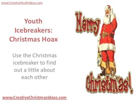 youth icebreakers christmas hoax