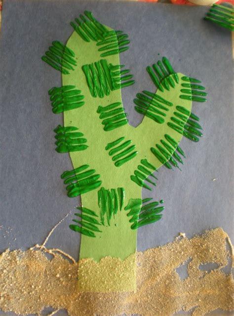 wild west art lessons pinterest cactus craft for desert preschool theme teaching earth