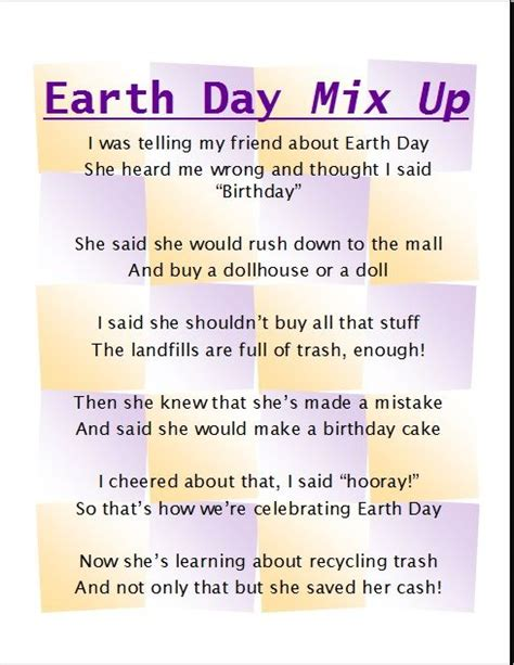 Earth Day 4 earth day poem for poetry poem