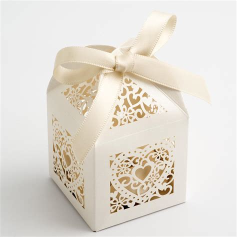 Wedding Favors Boxes by Ivory Filigree Favour Boxes At Favour This