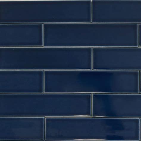 subway tiles colors kiln ceramic 2x8 caspian blue dark blue ceramic tile