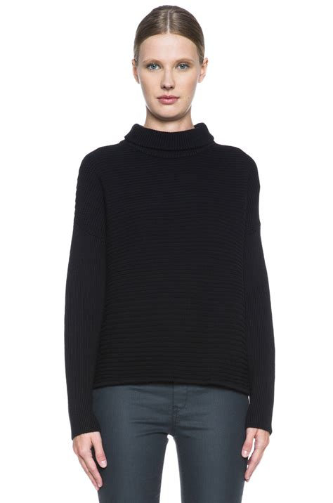 Csh N Finie By C R Collections helmut lang fly knit turtleneck in black fwrd